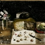 Csendélet sajttal és vázával