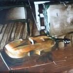 Enteriőr hegedűvel