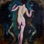Táncoló női akt