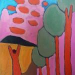 Németh M_Alak rózsaszín tájban(1984)_47x37,2cm