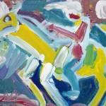 Miklós NÉMETH - Rider | oil on canvas | 35,5x45,5cm |