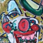 Miklós NÉMETH - Clown | unrestored | 140x100cm |