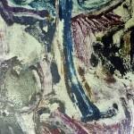 Miklós NÉMETH - My favourite tree in the night | 1966 | oil monoprint | 59x30,5cm |