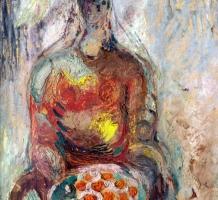 TÓTH Menyhért – Gyümölcskosarat tartó nő