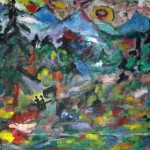 Miklós NÉMETH - Bellevue | ~1969 | oil on canvas | ~120x130cm |