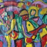 Miklós NÉMETH - Beat Band | 1960s | oil on canvas | ~120x140cm |