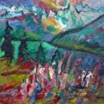 Miklós NÉMETH - Landscape | ~1969 | oil on canvas | ~125x135cm |