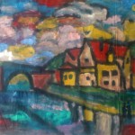 Miklos NÉMETH - Viaduct Landscape | 1960s | o-c | ~110x130cm |