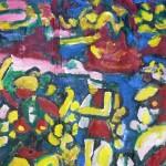 Miklós NÉMETH - Dance | 1960s | oil on canvas | ~112x135cm |