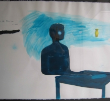 WAHORN András – Green-Blue Table Man